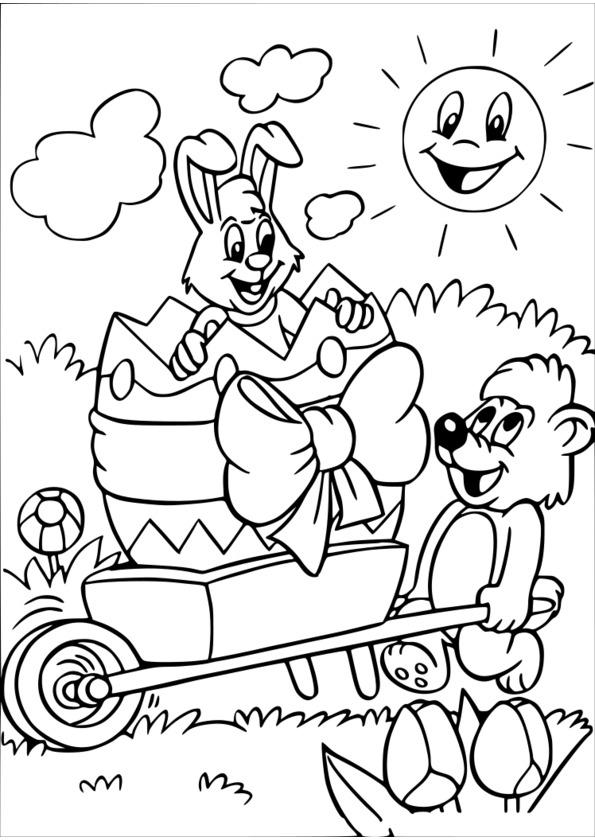 Coloriage Gratuit Paques Oeufs Imprimer destiné Oeufs De Paques Coloriage A Imprimer