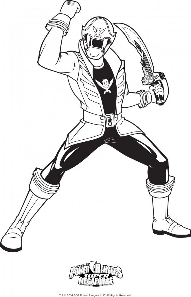 Coloriage Gratuit Power Rangers à Coloriage Épée