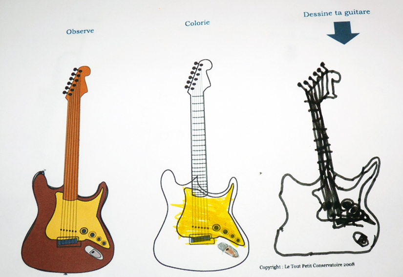 Coloriage Guitare Facile serapportantà Coloriage Guitare