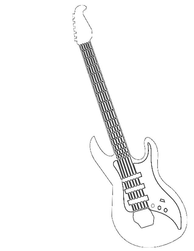 Coloriage Guitariste Musique Rock Dessin Gratuit À Imprimer intérieur Coloriage Guitare