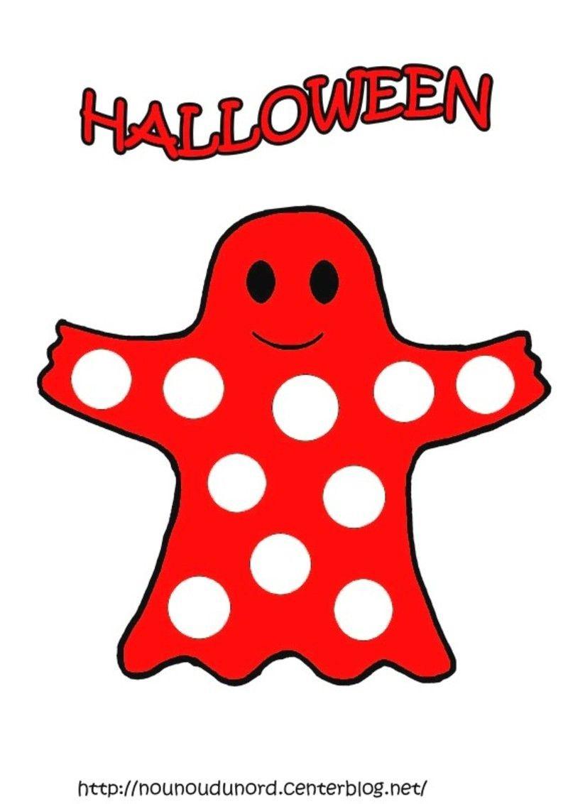 Coloriage Halloween A Gommettes concernant Fantome Dessin