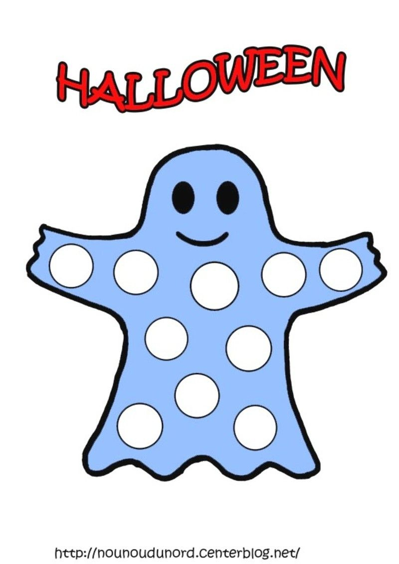 Coloriage Halloween A Gommettes   Halloween   Pinterest serapportantà Dessin Fantome