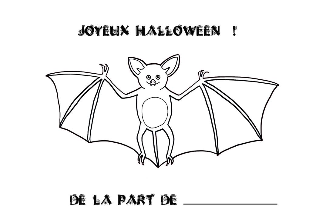 Coloriage Halloween : Chauve-Souris tout Dessin Chauve Souris À Colorier