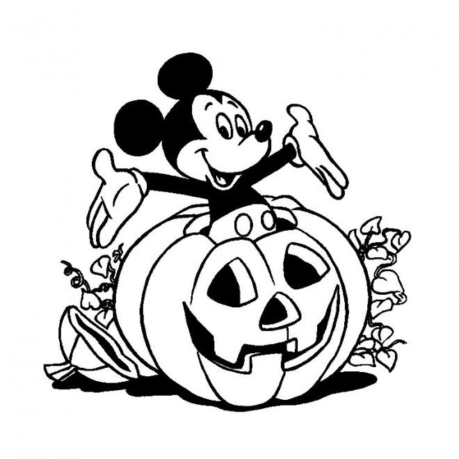Coloriage Halloween, Citrouille Et Mickey Dessin Gratuit À concernant Dessin Halloween À Imprimer Gratuit