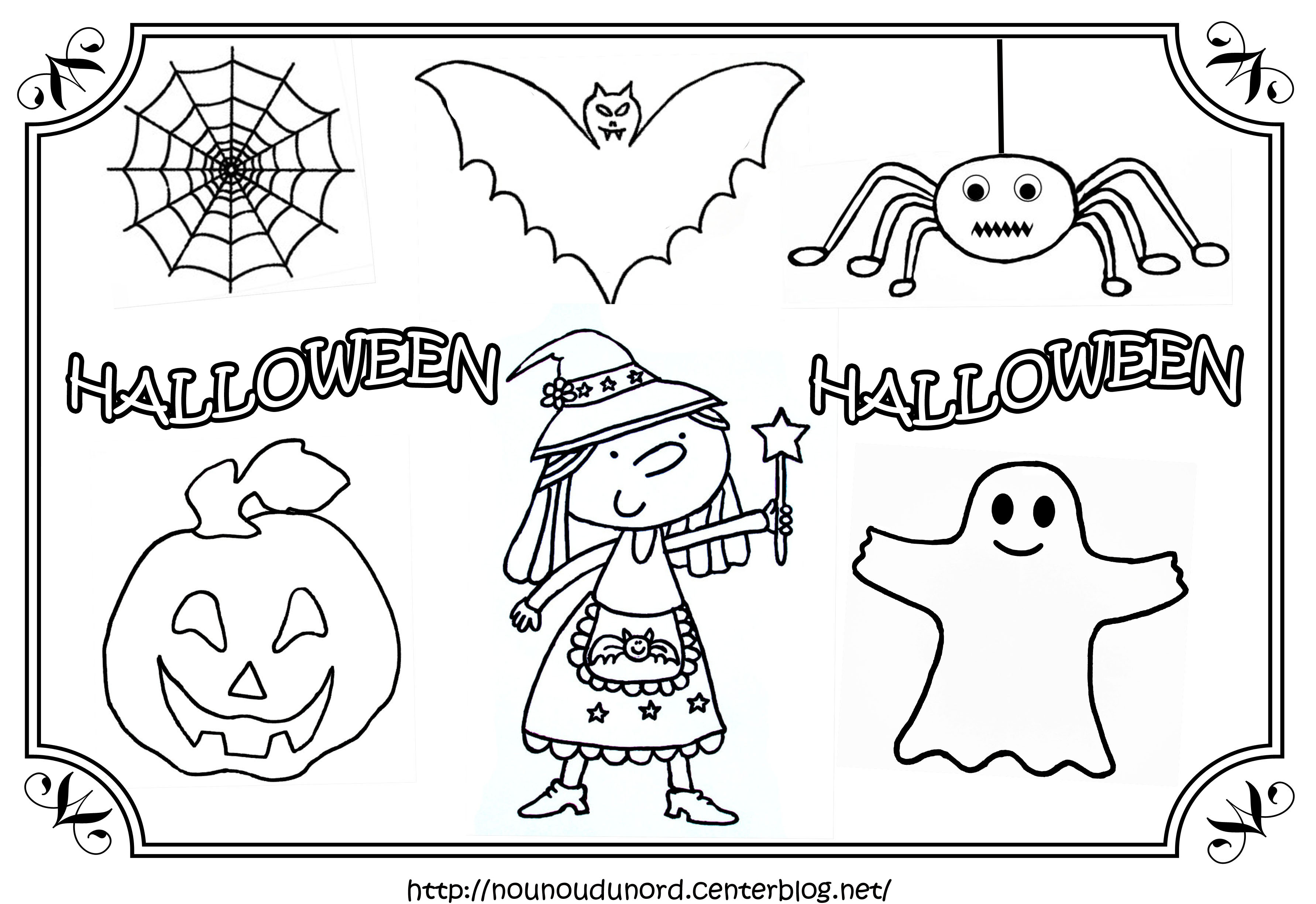 Coloriage Halloween Citrouille Qui Fait Peur concernant Dessin Halloween Qui Fait Peur