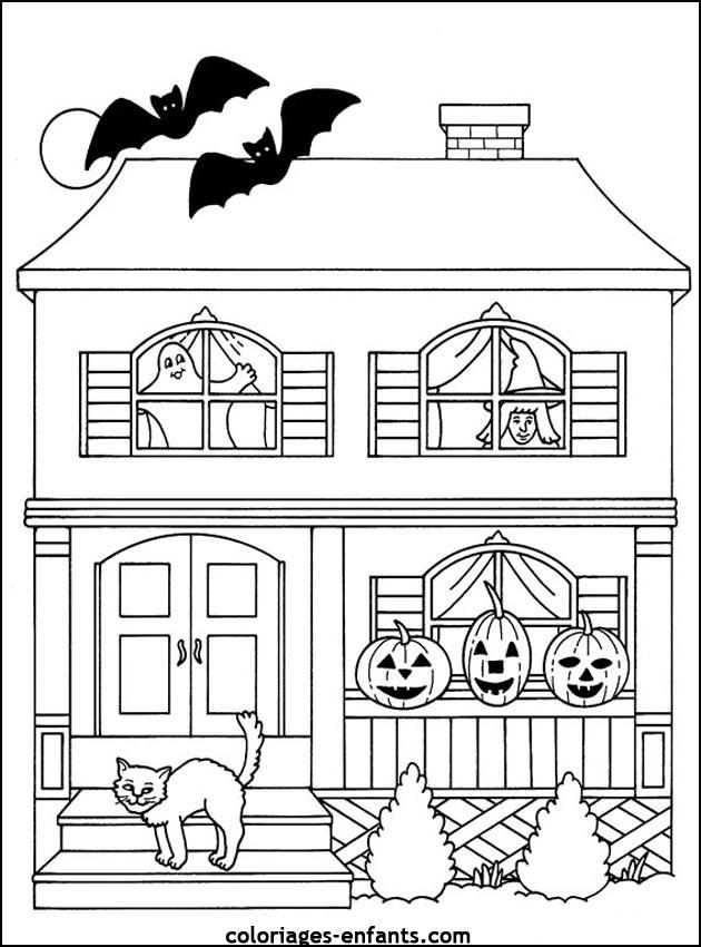 Coloriage Halloween Gratuit À Imprimer Liste 40 À 60 avec Dessin Halloween À Imprimer Gratuit