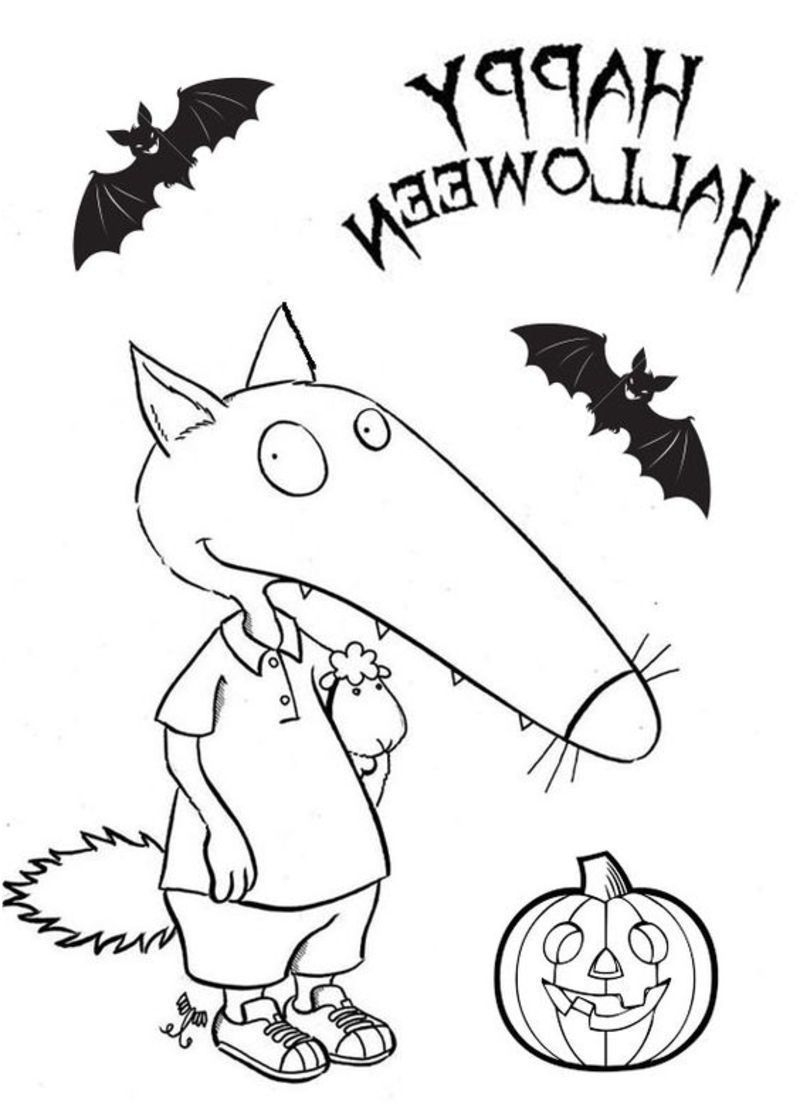Coloriage Halloween Maternelle . 14 Primaire Coloriage encequiconcerne Coloriage Loup Maternelle