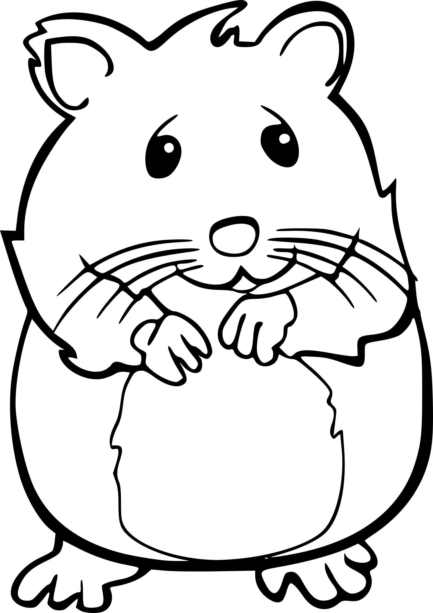 Coloriage Hamster À Imprimer intérieur Coloriage Facile À Imprimer