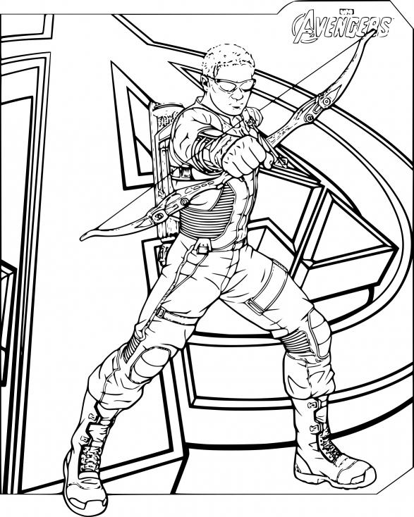 Coloriage Hawkeye Avengers À Imprimer Sur Coloriages encequiconcerne Dessin Des Avengers