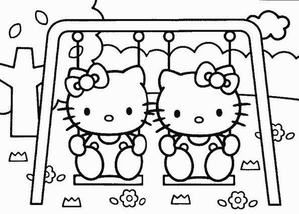Coloriage Hello Kitty - 11 - Momes serapportantà Coloriage A Imprimer Hello Kitty