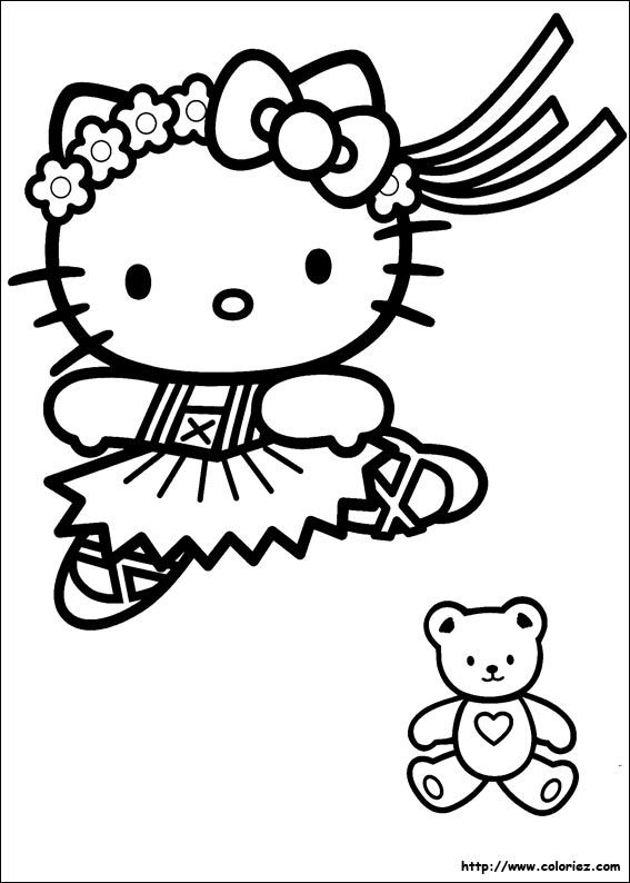 Coloriage Hello Kitty À Colorier - Dessin À Imprimer (Avec destiné Coloriage À Imprimer Hello Kitty Sirène