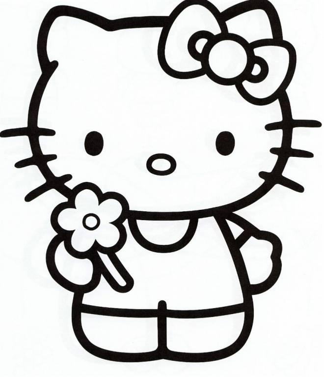 Coloriage Hello Kitty À Colorier Dessin Gratuit À Imprimer concernant Dessin À Imprimer Hello Kitty