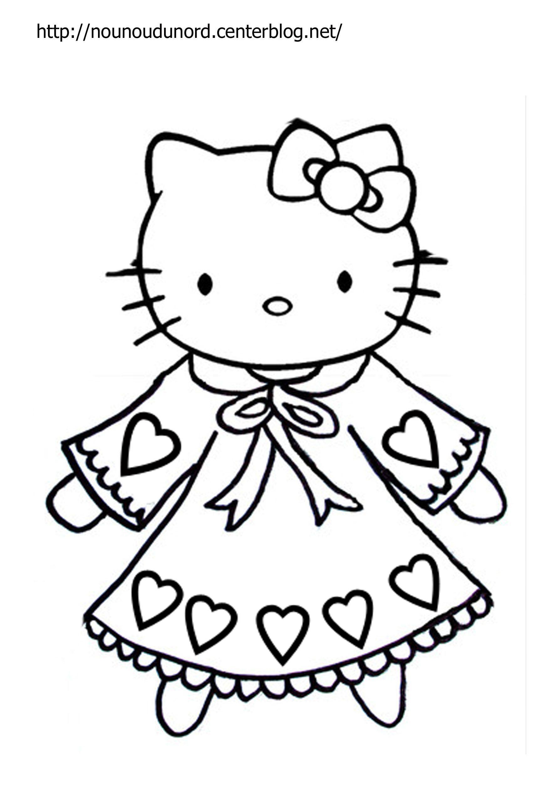 Coloriage Hello Kitty A Imprimer dedans Coloriage 2 Ans À Imprimer