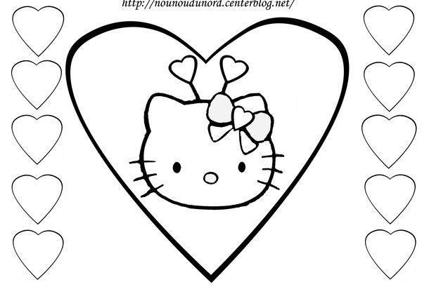 Coloriage Hello Kitty A Imprimer pour Coloriage A Imprimer Hello Kitty