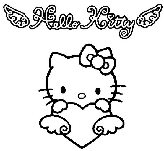 Coloriage Hello Kitty Aimable Dessin Gratuit À Imprimer avec Coloriage Hello Kitty Coeur