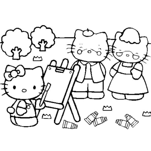 Coloriage Hello Kitty En Ligne Gratuit À Imprimer destiné Coloriage A Imprimer Hello Kitty