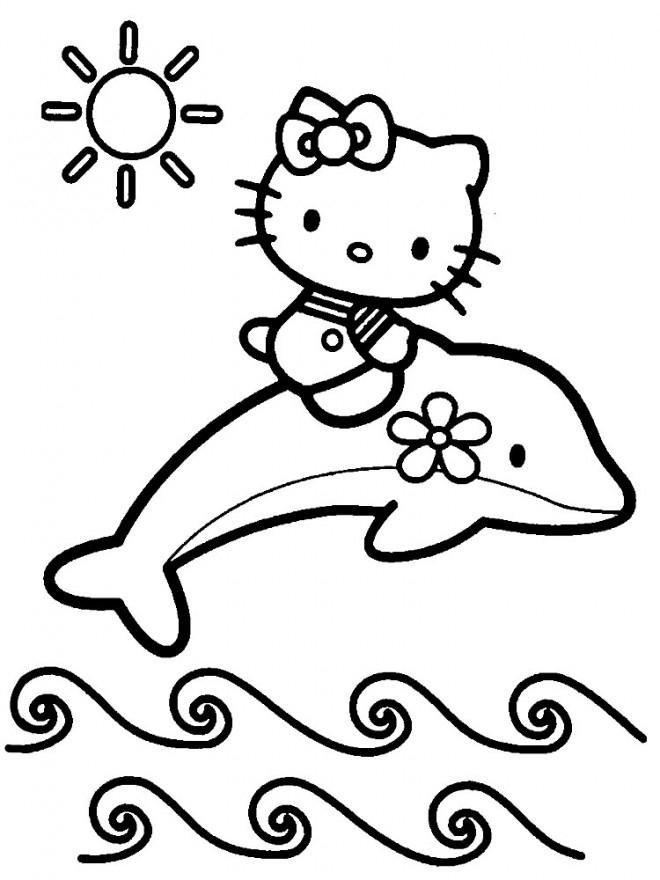Coloriage Hello Kitty Sirene 6 Dessin Gratuit À Imprimer intérieur Coloriage À Imprimer Hello Kitty Sirène