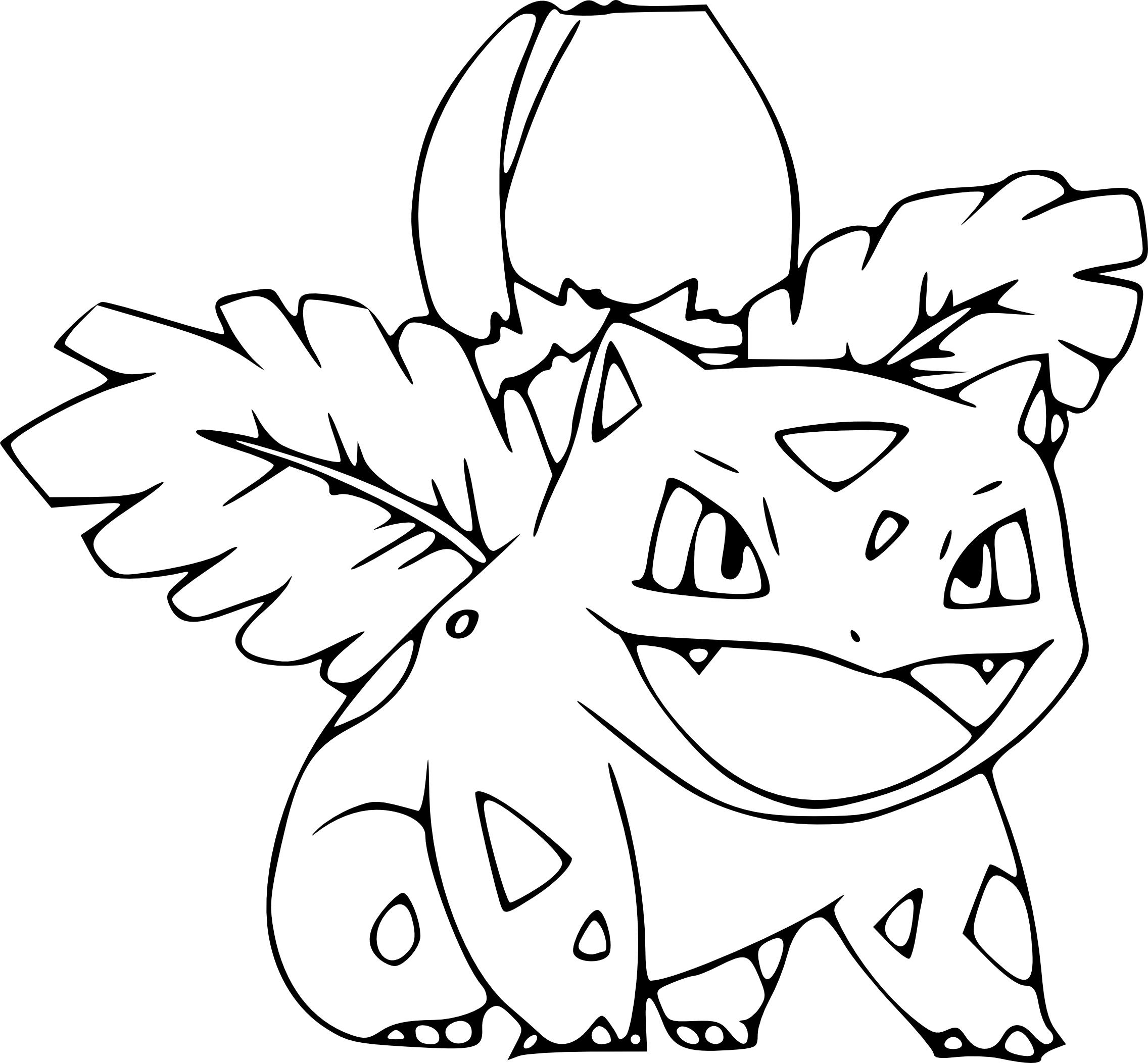 Coloriage Herbizarre Pokemon À Imprimer concernant Dessin Pokemon Gratuit A Imprimer