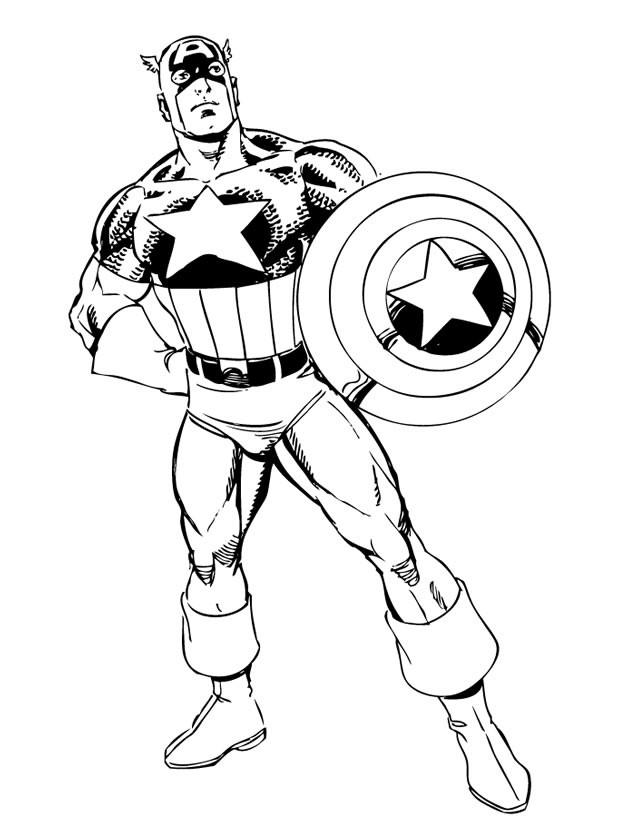Coloriage Héro Captain America Dessin Gratuit À Imprimer avec Coloriage Super Hero A Imprimer Gratuit