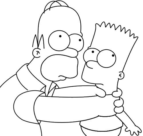 Coloriage Homer Et Bart Simpson Dessin Gratuit À Imprimer concernant Coloriage Simpson A Imprimer Gratuit