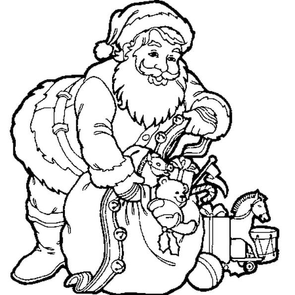 Coloriage Hotte Du Père Noël En Ligne Gratuit À Imprimer dedans Image De Pere Noel Gratuite A Imprimer