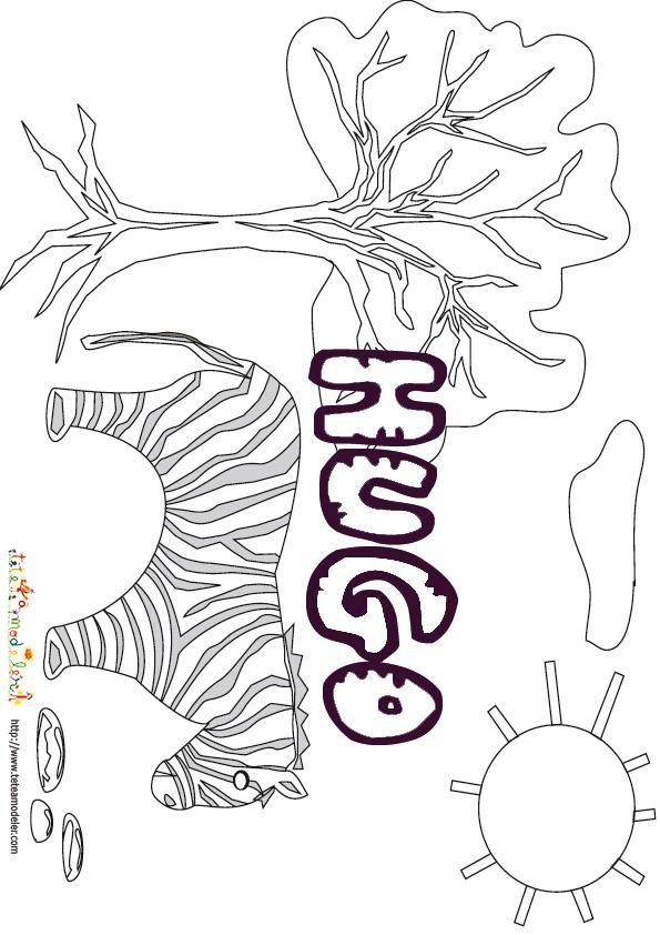 Coloriage Hugo | My Blog pour Dessin Hugo L Escargot
