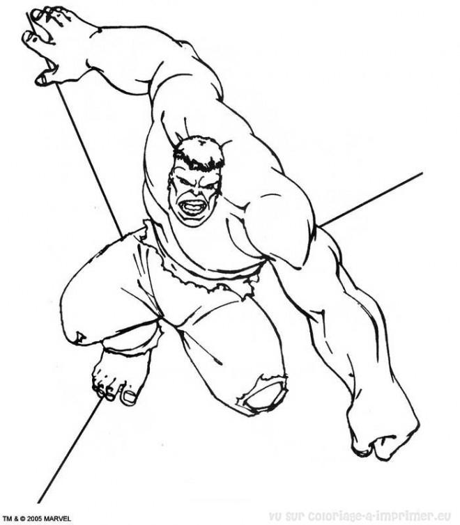Coloriage Hulk Avengers À Colorier Dessin Gratuit À Imprimer intérieur Coloriage Hulk A Imprimer Gratuit