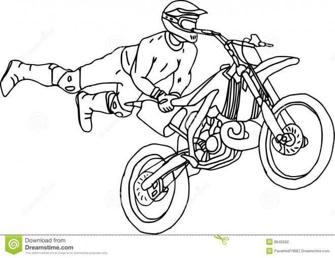 Coloriage Illustrations Motocross Freestyle Dessin Gratuit destiné Moto Cross À Colorier
