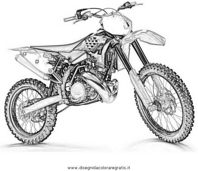 Coloriage Image Motocross Dessin Gratuit À Imprimer tout Coloriage De Moto Cross