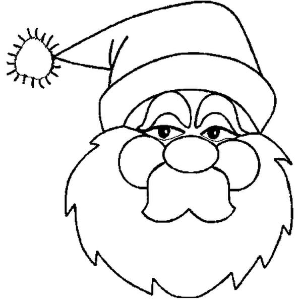 Coloriage Image Père Noël En Ligne Gratuit À Imprimer dedans Pere Noel A Imprimer Et A Decouper