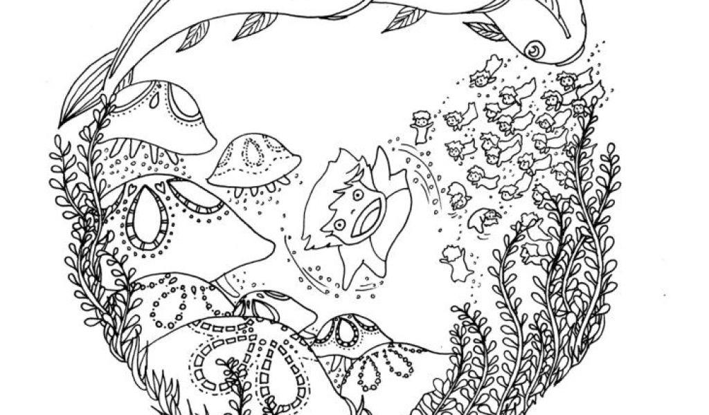 Coloriage Imprimer Mon Voisin Totoro Doodles And Totoro intérieur Coloriage Totoro A Imprimer