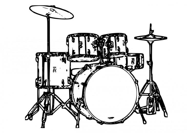 Coloriage Instrument De Musique destiné Dessin D Instrument De Musique