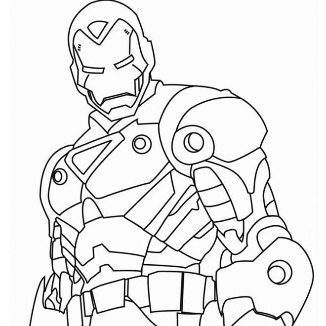 Coloriage Iron Man Métalique Dessin Gratuit À Imprimer encequiconcerne Coloriage Hulk A Imprimer Gratuit