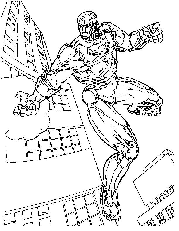 Coloriage Iron Man Protecteur De La Ville Dessin Gratuit À dedans Dessin A Colorier Gratuit Iron Man