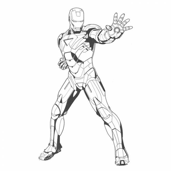 Coloriage Iron Man Simple À Colorier Dessin Gratuit À Imprimer intérieur Coloriage Iron Man À Imprimer
