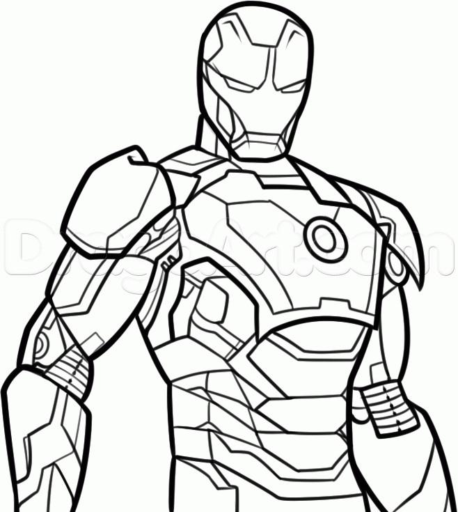 Coloriage Iron Man Vectoriel À Colorier Dessin Gratuit À à Coloriage Iron Man À Imprimer