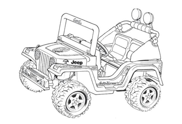 Coloriage Jeep - Ohbq tout Coloriage De 4X4
