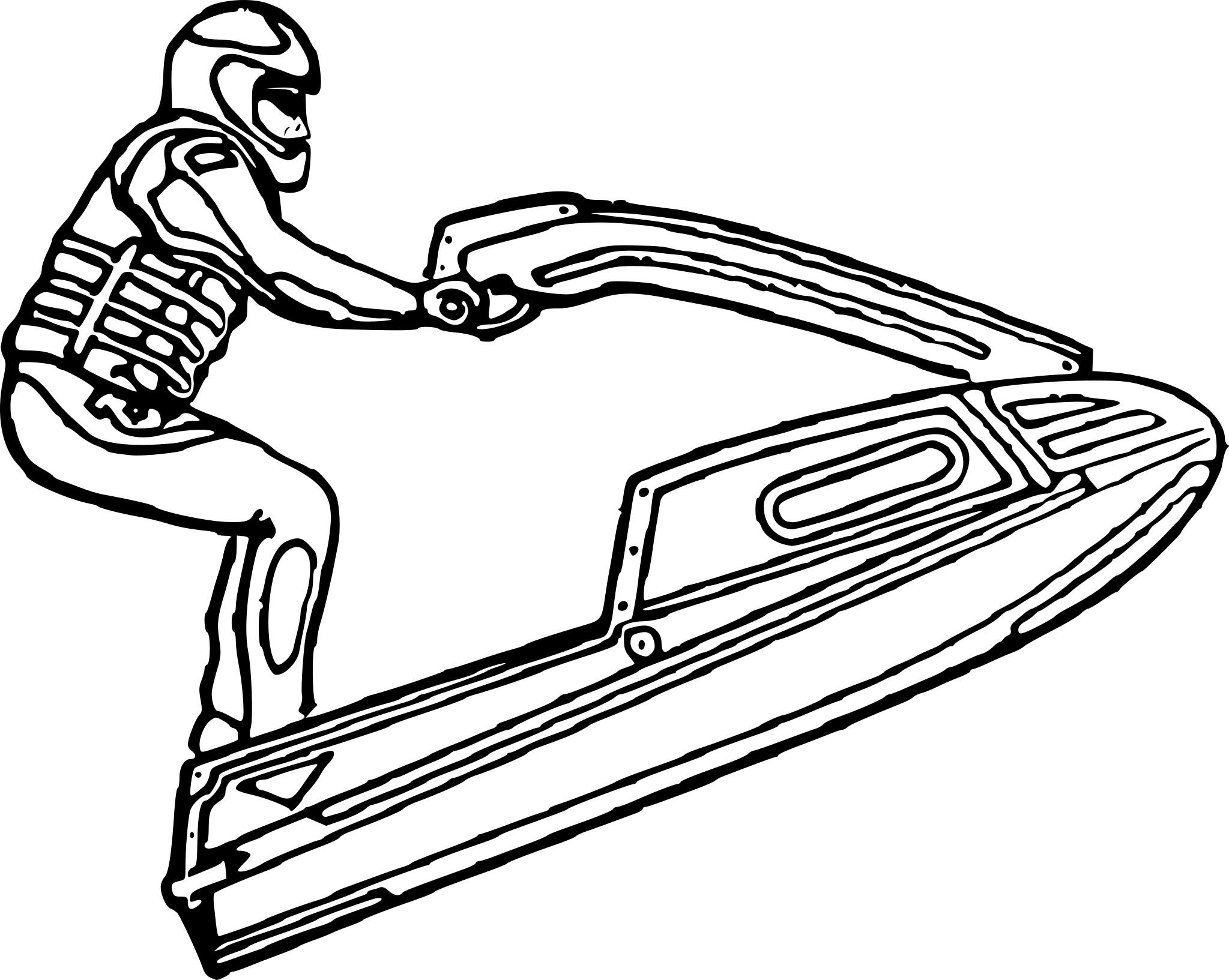 Coloriage Jet Ski | My Blog dedans Dessin De Ski
