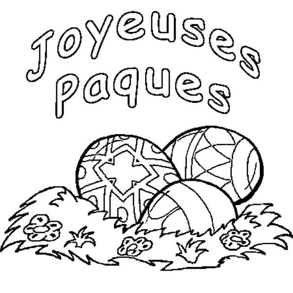 Coloriage Joyeuses Pâques En Ligne Gratuit À Imprimer destiné Coloriages Paques À Imprimer