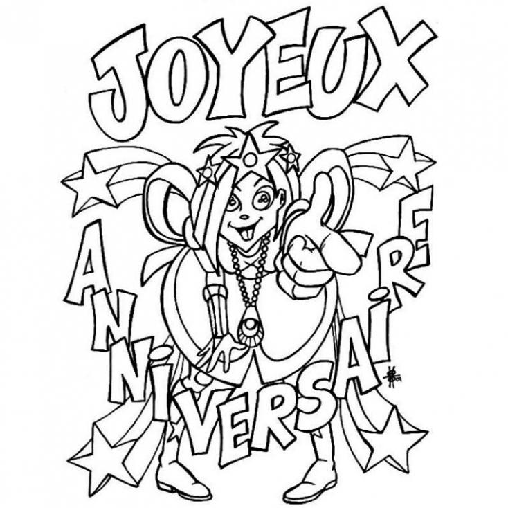 Coloriage Joyeux Anniversaire À Imprimer Sur Coloriages pour Dessin A Imprimer Joyeux Anniversaire