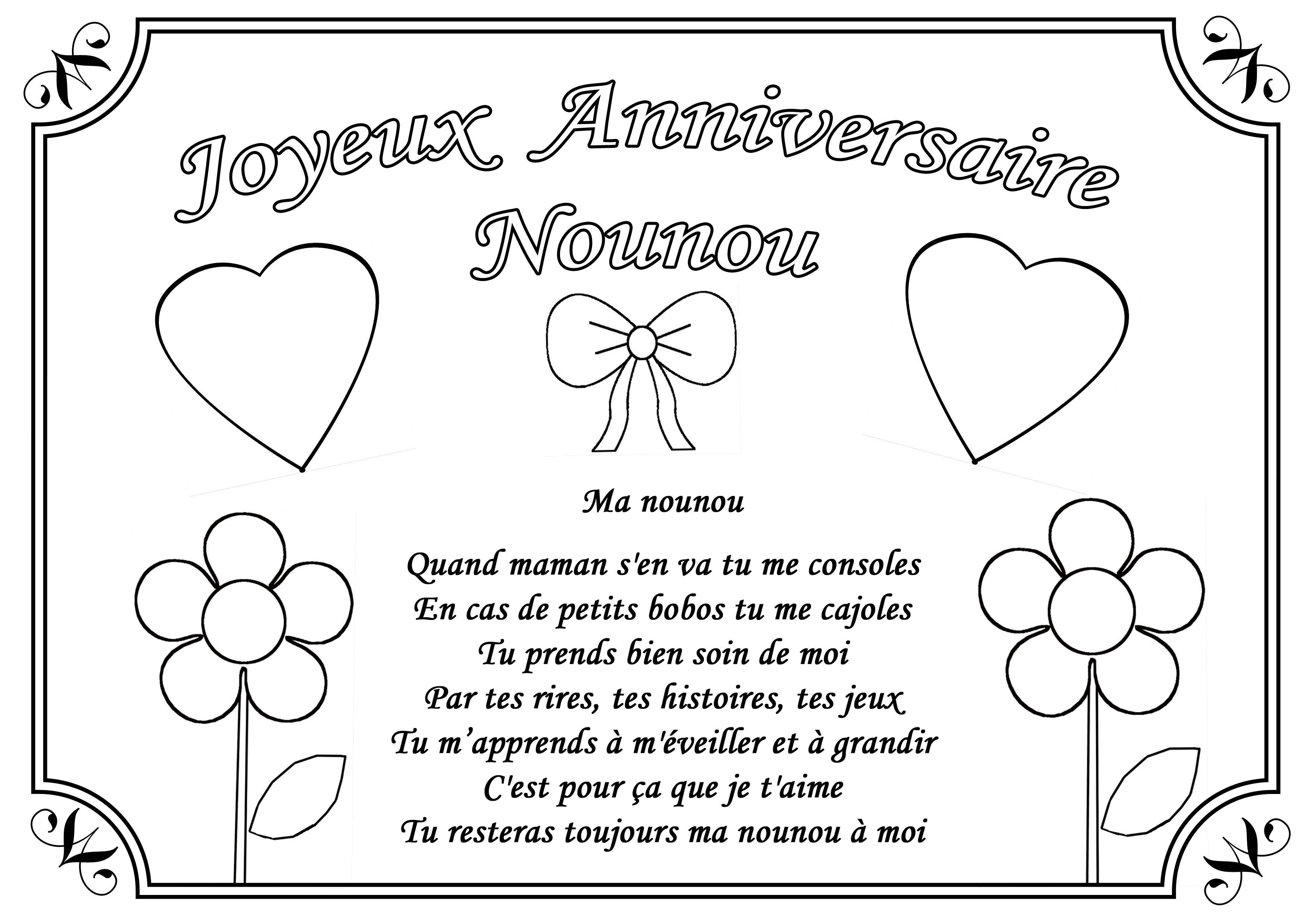 Coloriage Joyeux Anniversaire En Ligne à Dessin Pour Les Maman