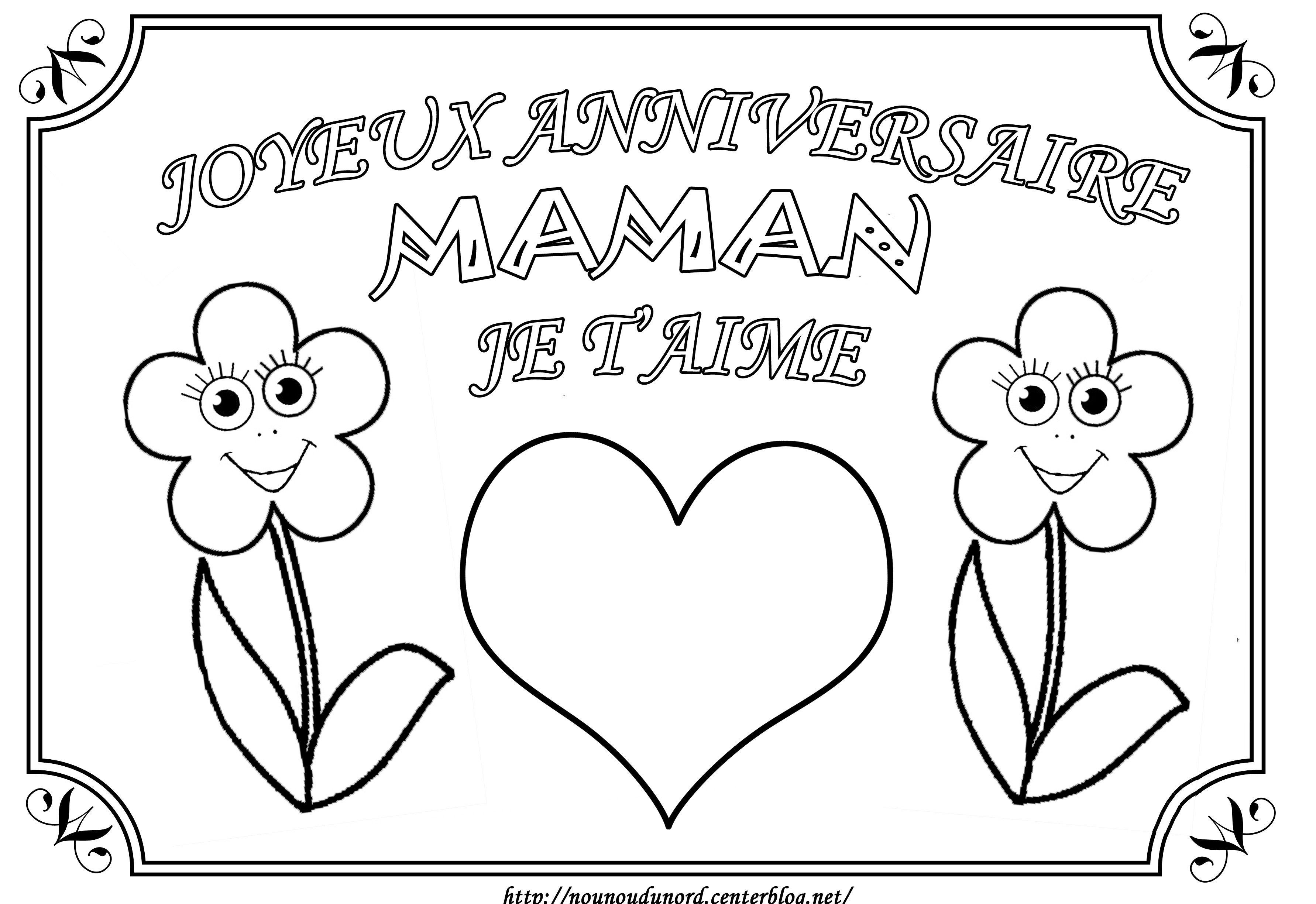 Coloriage Joyeux Anniversaire Maman Je T'Aime avec Dessin A Imprimer Joyeux Anniversaire