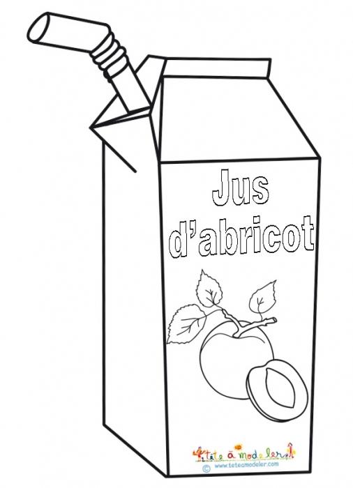 Coloriage Jus D'Abricot concernant Boite De Coloriage