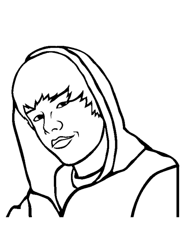 Coloriage Justin Bieber À Imprimer Gratuitement concernant Dessin De Justin Bieber