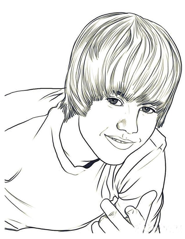 Coloriage Justin Bieber À Imprimer Gratuitement destiné Dessin De Justin Bieber
