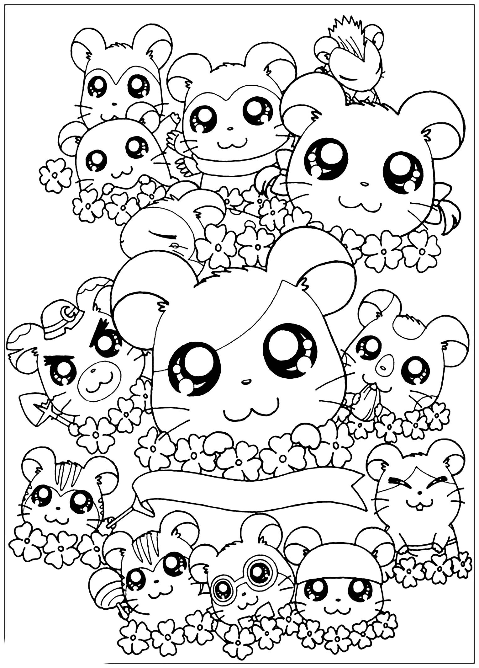 Coloriage Kawaii Disney Bestof Images Colorage Hamtoro à Coloriage Kawaii A Imprimer
