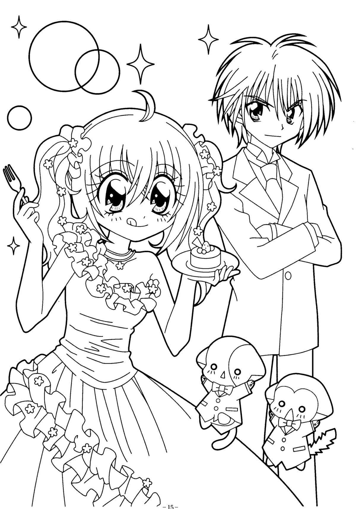 Coloriage Kilari Manga À Imprimer à Coloriage Manga A Imprimer