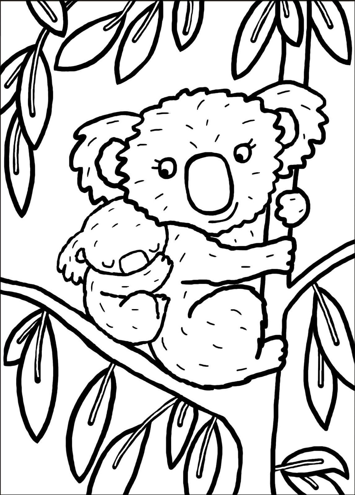 Coloriage Koala À Imprimer Pour Les Enfants - Cp15291 concernant Dessin Pour Enfant A Colorier