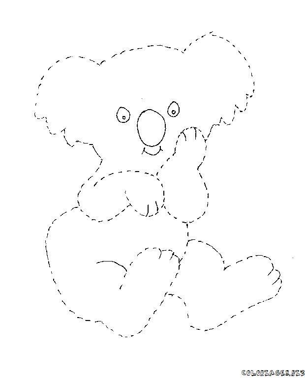 Coloriage Koala À Imprimer – Zimmpel destiné Coloriage Koala A Imprimer