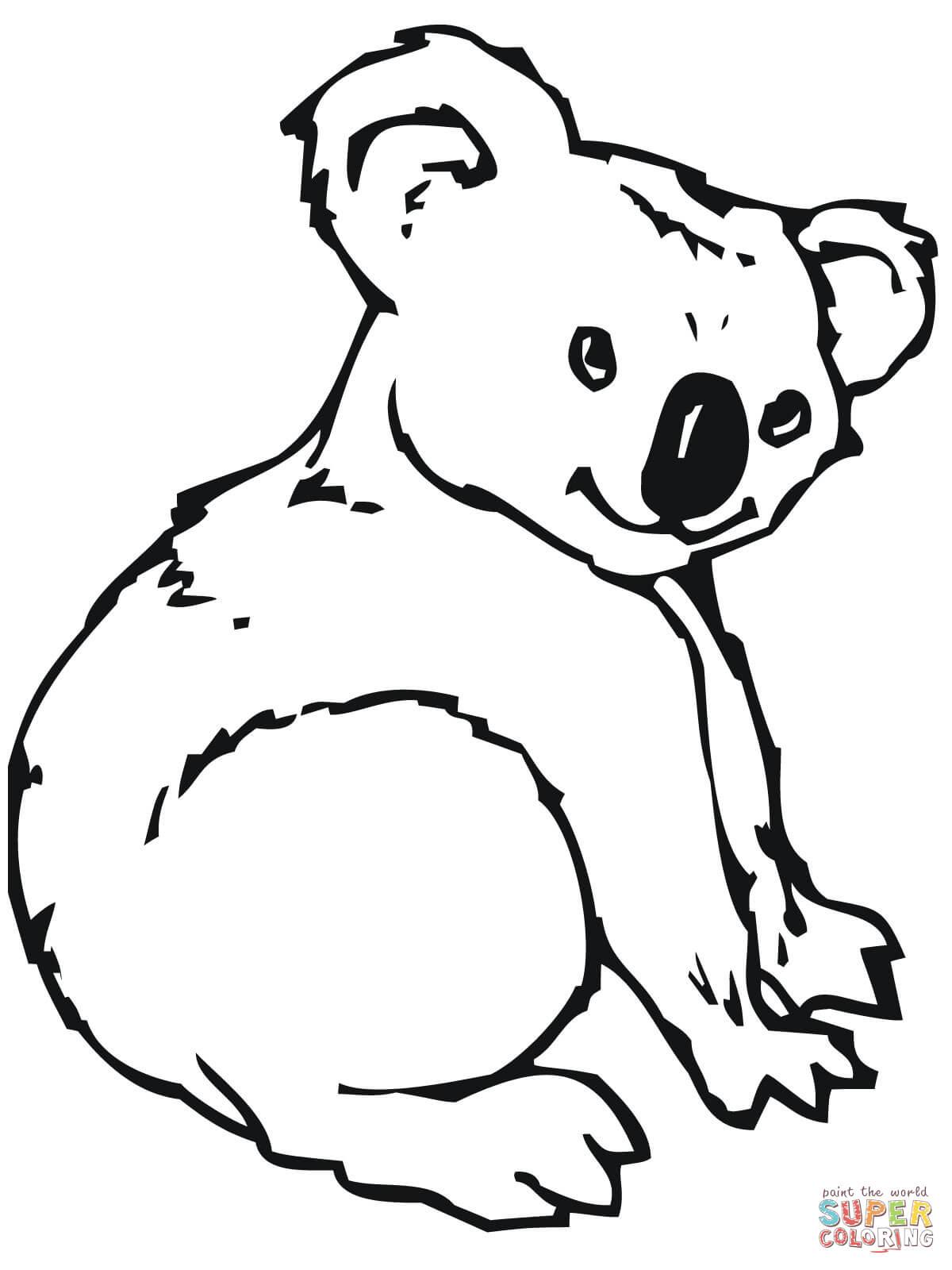 Coloriage - Koala | Coloriages À Imprimer Gratuits à Coloriage De Koala